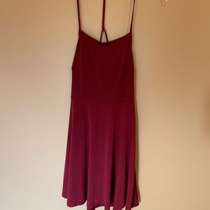 Wine colored cocktail dress